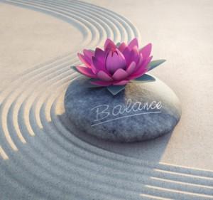 Balance - Lotusblüte auf Stein